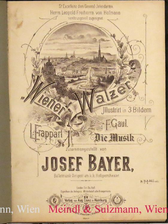 Wiener Walzer. Illustrirt in 3 Bildern von: Wiener Walzer. -