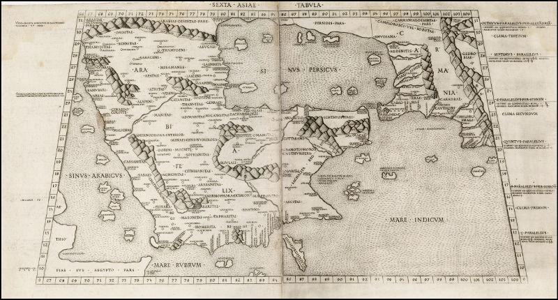 Sexta Asiae Tabula.: Ptolemaeus.