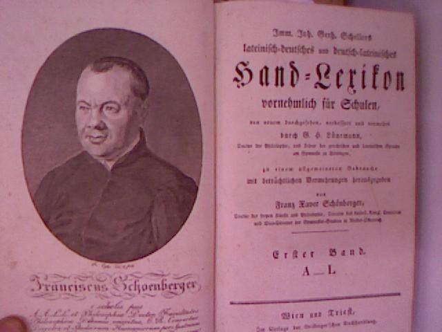 Imm. Joh. Gerh. Schellers lateinisch-deutsches und deutsch-lateinisches: Scheller, Immanuel Johann