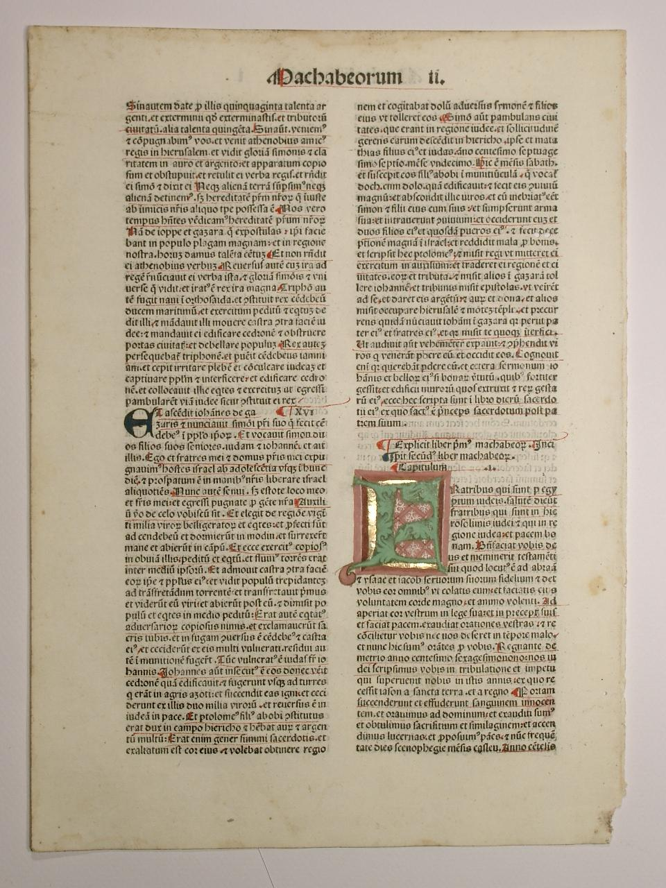 Biblia, Machabeorum II. (GW 4254, HC 3090).