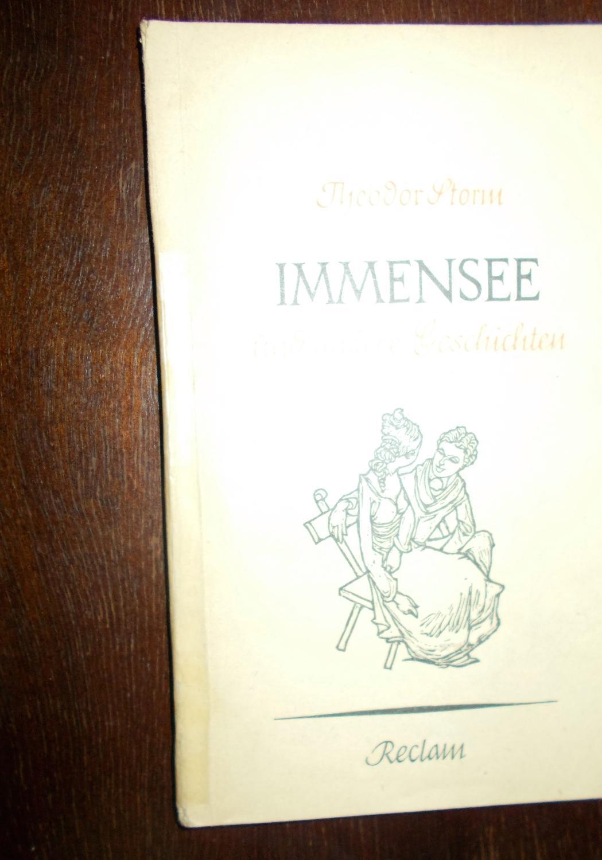 Immensee und andere Sommergeschichten, Herausgegeben von Walther: Theodor Storm