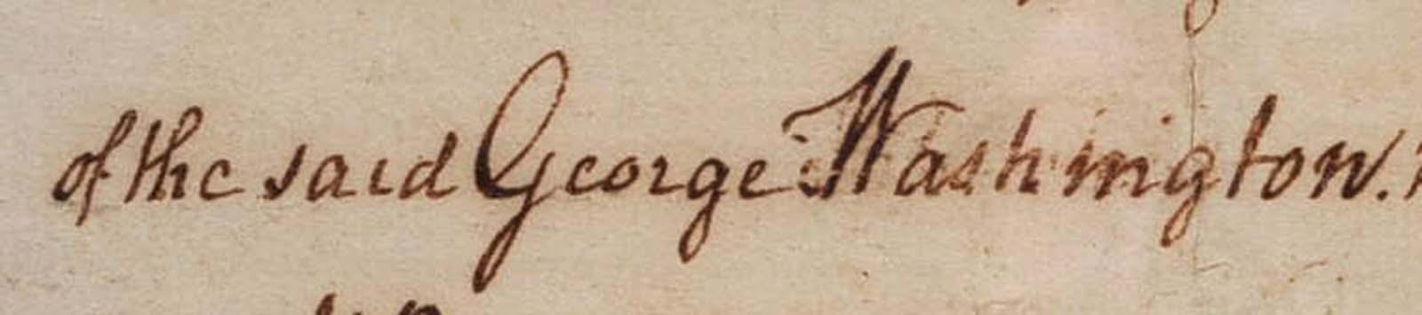 1760 Land Sale Receipt, Release or Indenture: Washington, George
