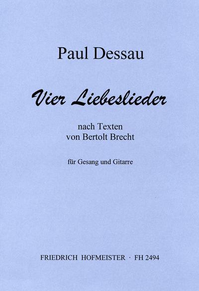 4 Liebeslieder nach Texten vonBrecht für Gesang: Paul Dessau
