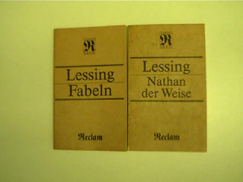 2x Reclam-Ausgaben: Lessing - 1.) Nathan der: Lessing, Gotthold Ephraim: