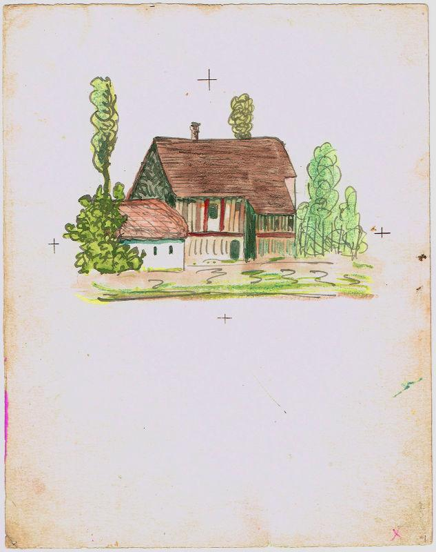 14 watercolour drawings, mostly with autogr. inscriptions.: Hesse, Hermann, Swiss