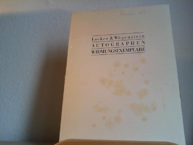 Autographen - Widmungsexemplare. Katalog 20. Großformatige Paperbackausgabe: Antiquariat Löcker &