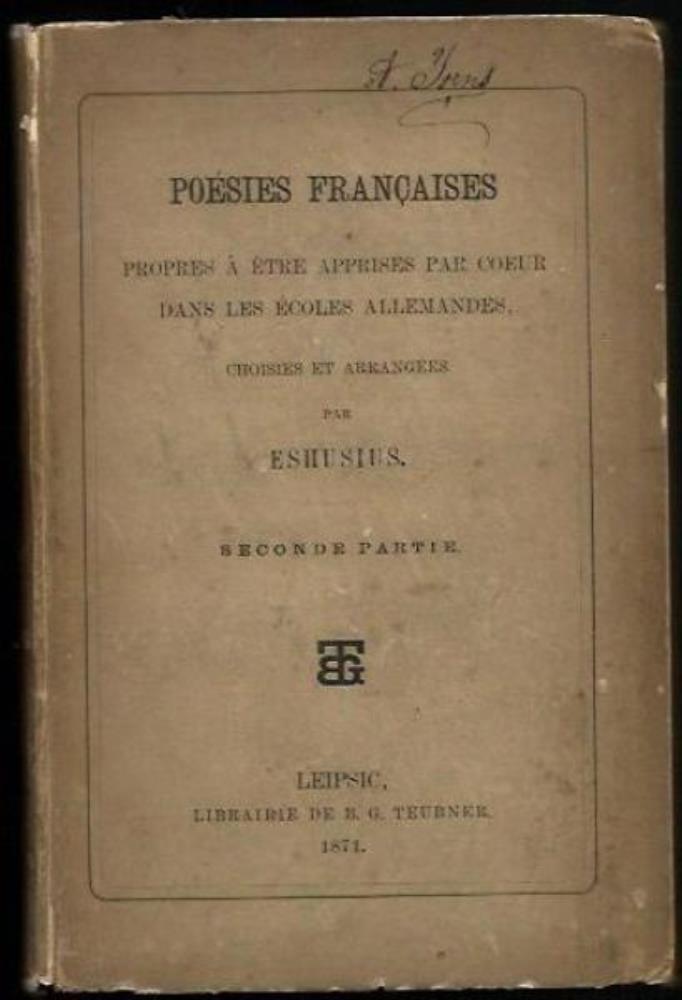 Poesies Francaises - propres a etre apprises: Eshusius (Hrsg.)