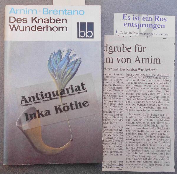Des Knaben Wunderhorn : Eine Auswahl -: Arnim, Ludwig Achim