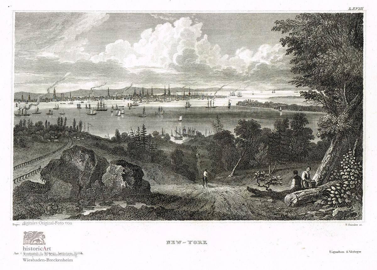 New-York. Schöne Ansicht von New York von: Friedrich Geissler (1778-1853),