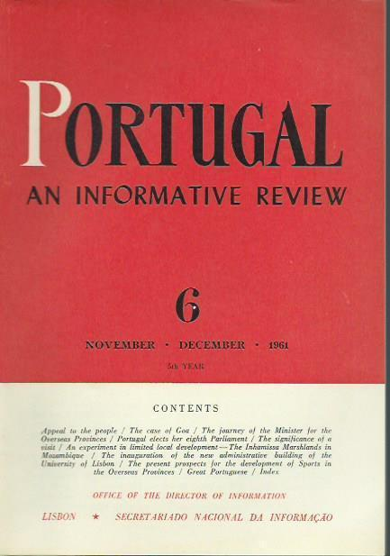 Portugal. 5th year. Number 6 / November,: Portugal. -