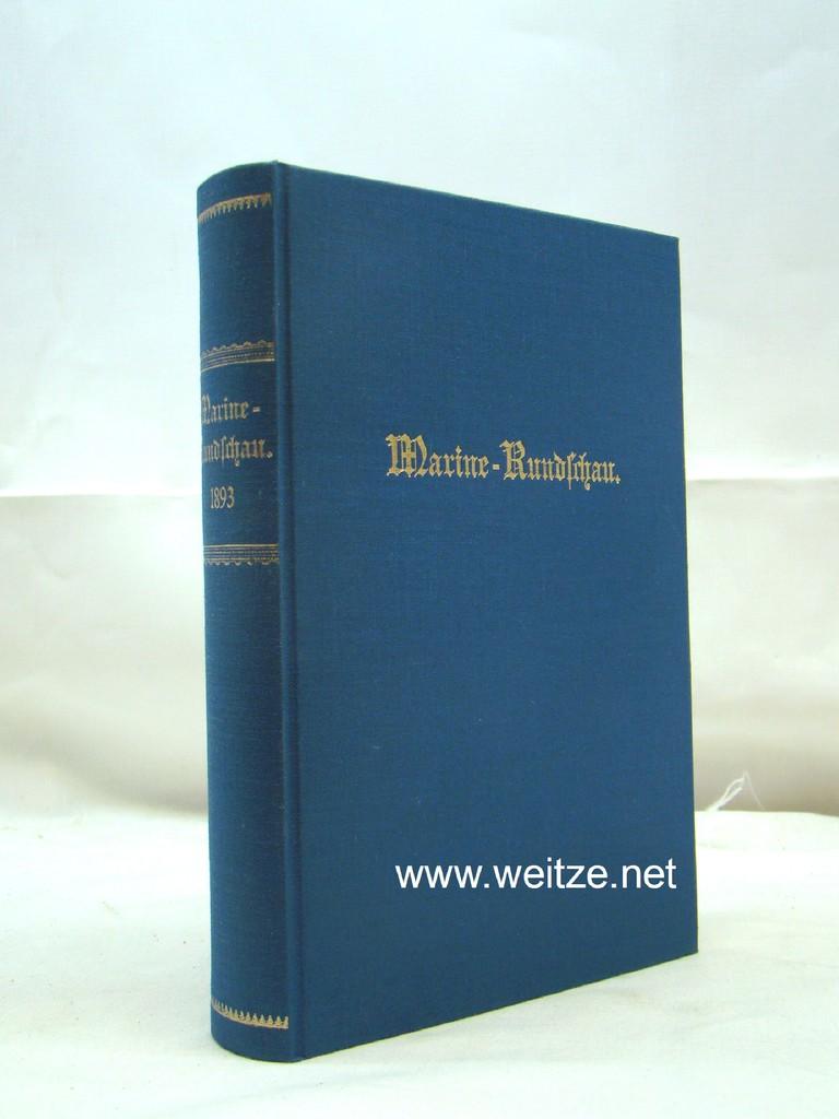 Marine-Rundschau 1890/91. Nachdruck des 1. und 2.: Kaiserliche Marine: