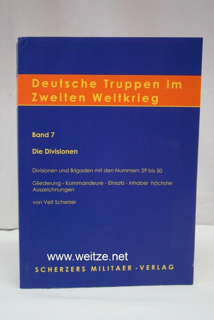 Deutsche Truppen im zweiten Weltkrieg - Band: Scherzer, V.,: