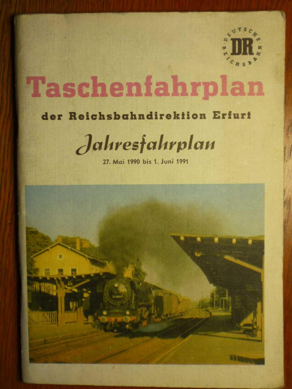 Taschenfahrplan Reichsbahndirektion Erfurt - Jahresfahrplan vom 27.: DR - Deutsche