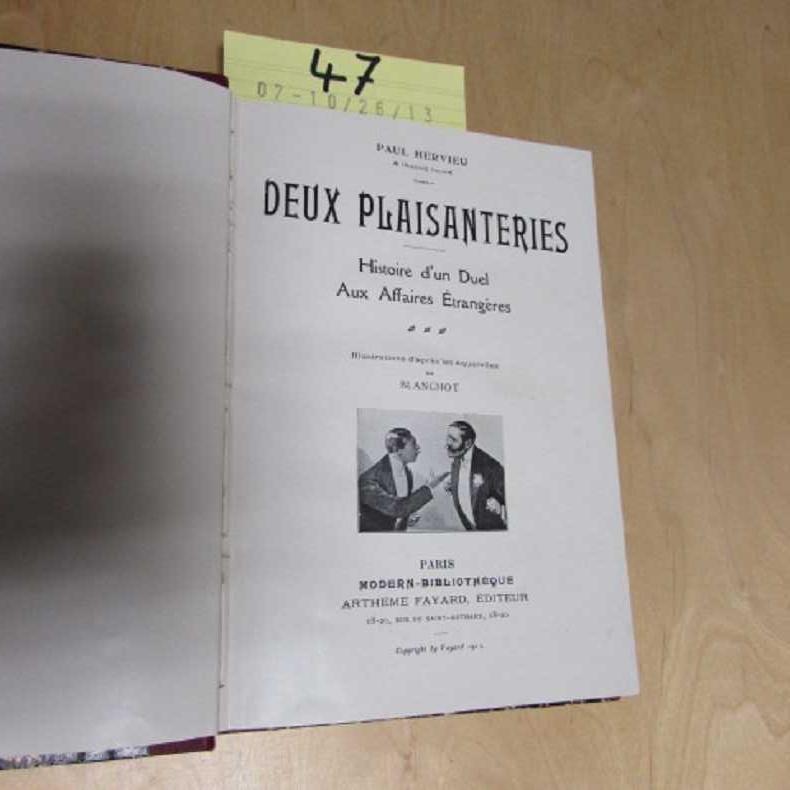 Deux Plaisanteries - Histoire d un Duel: Hervieu, Paul, Blanchot