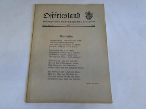 Mitteilungsblatt des Bundes der Ostfriesischen Heimatvereine, Folge: Ostfriesland
