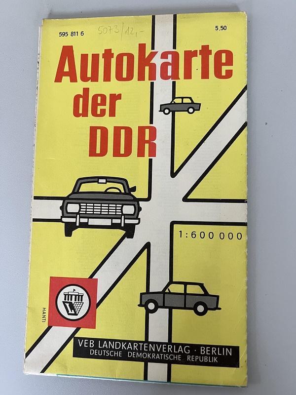 Autokarte der DDR.