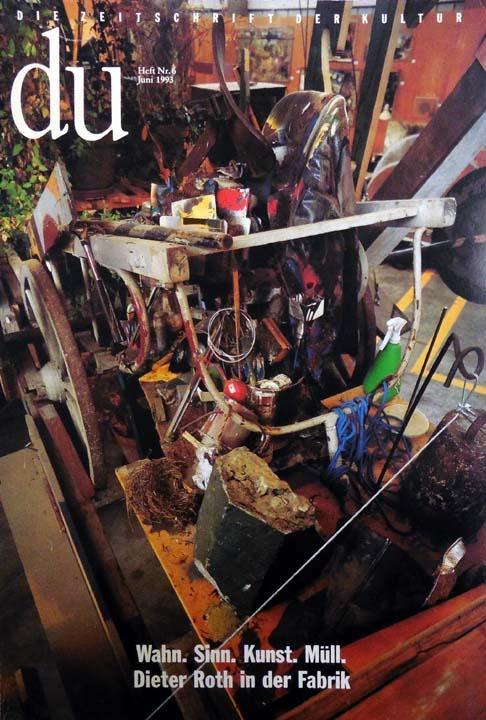 du. Die Zeitschrift der Kultur. Heft Nr.: Roth, Dieter:
