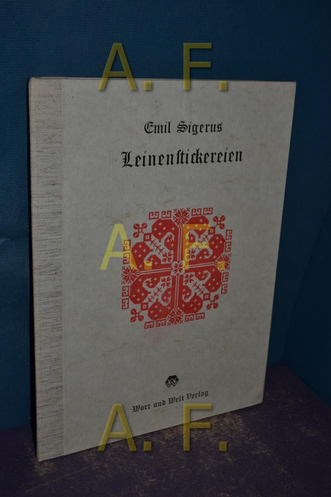 Siebenbürgisch-sächsische Leinenstickerein Gesammelt und herausgegeben: Sigerus, Emil: