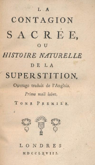 La contagion sacrée ou histoire naturelle de: Paul Henri Dietrich