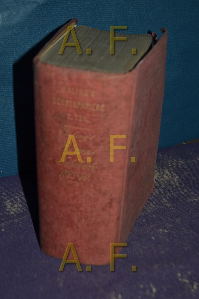 Saling s Börsen-Jahrbuch für 1898/99, Ein Handbuch: Hertslet, W. L.