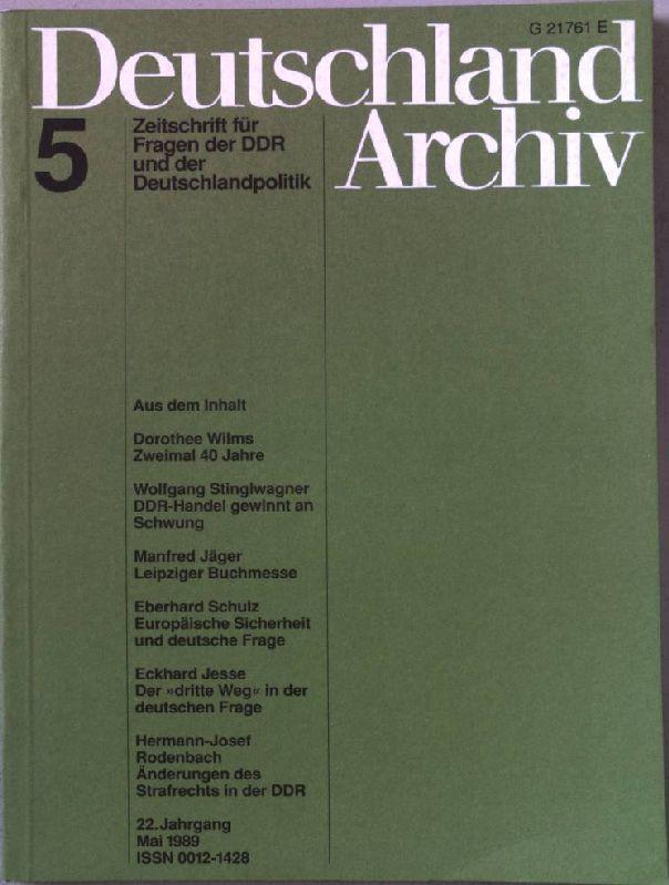 Zweimal 40 Jahre; DDR-Handel gewinnt an Schwung;: Wilms, Dorothee, Wolfgang