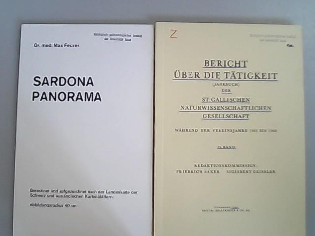 Bericht über die Tätigkeit (Jahrbuch) der St.: Saxer, Friedrich und