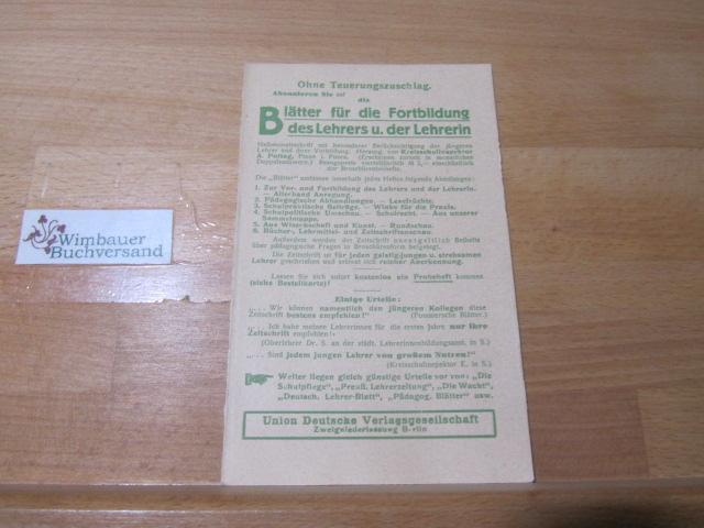 Werbefalzkarte: Blätter für die Fortbildung des Lehrers: Union :