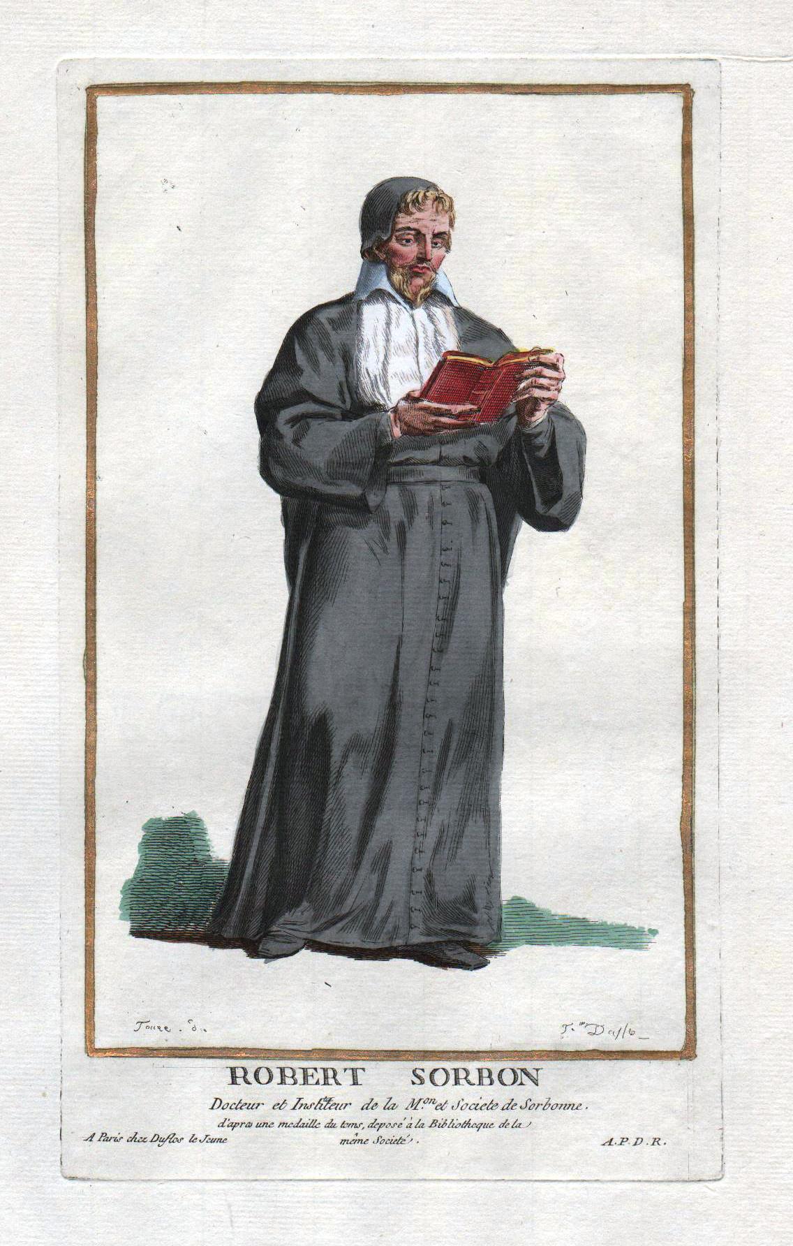 """Robert Sorbon"""" - Robert de Sorbon theologien: Duflos le Jeune,"""