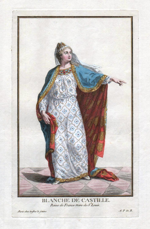 "Blanche de Castille"" - Blanca de Castilla: Duflos le Jeune,"