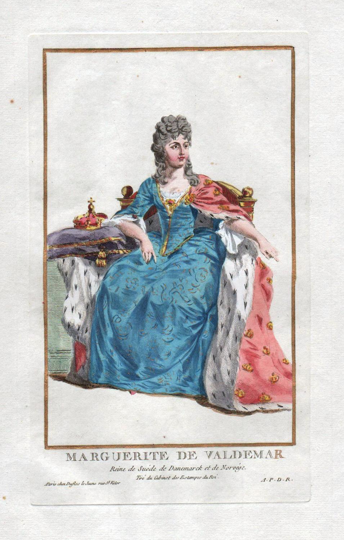 """Marguerite de Valdemar"""" - Margrete Valdemarsdatter Denmark: Duflos le Jeune,"""