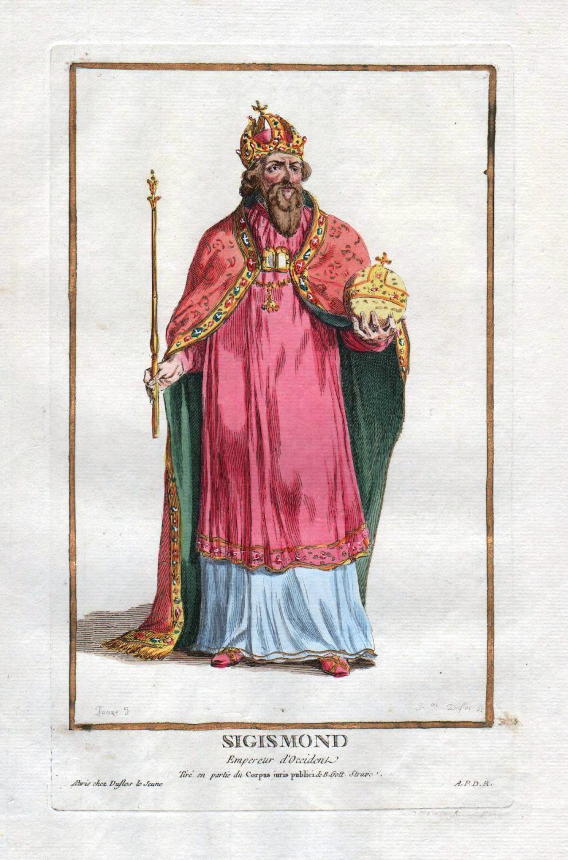 """Sigismond"""" - Sigismund Holy Roman Emperor Portrait: Duflos le Jeune,"""