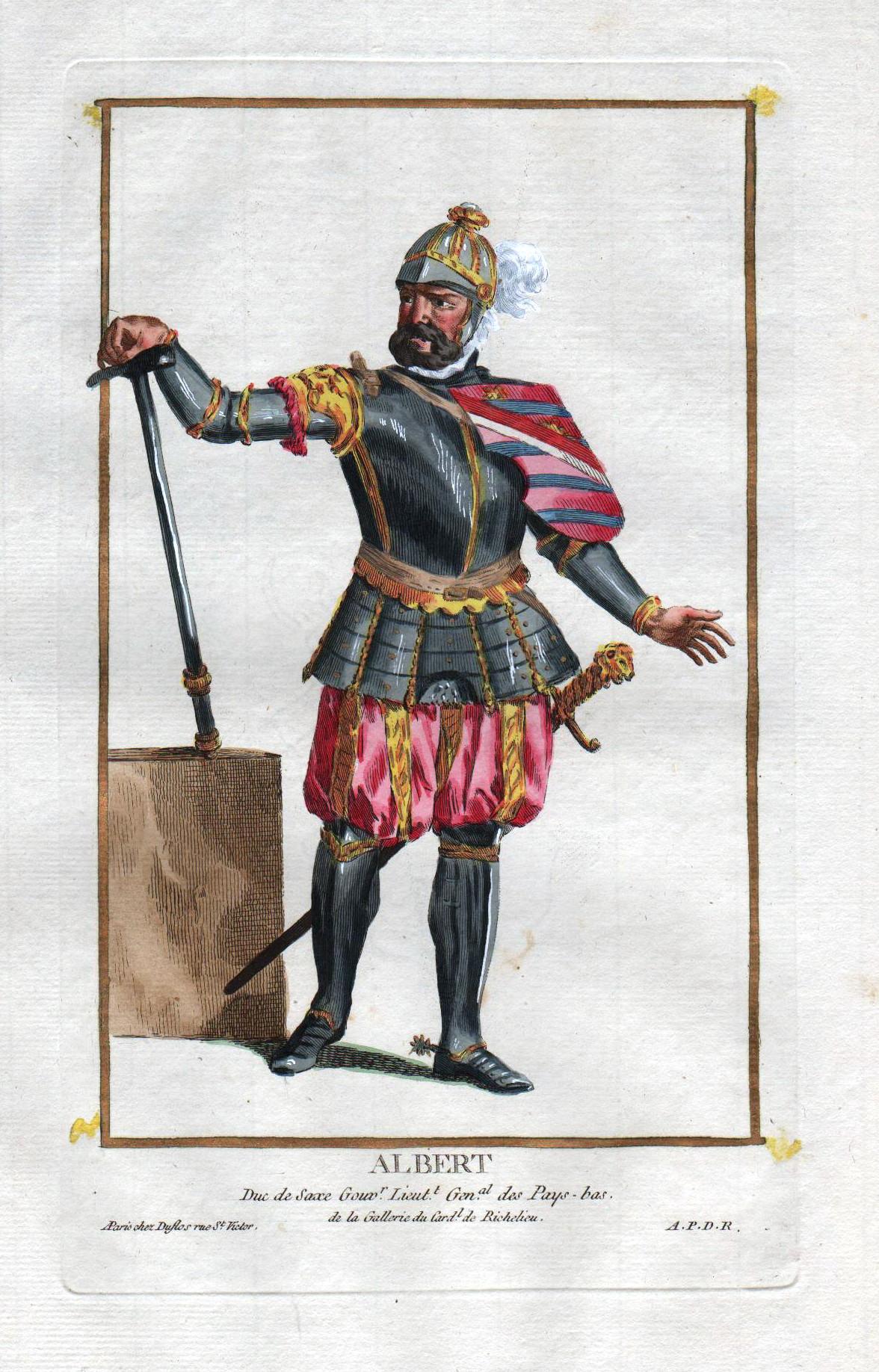 """Albert Duc de Saxe ."""" - Albert: Duflos le Jeune,"""