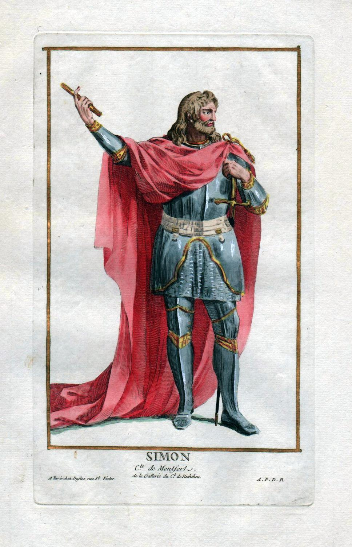 "Simon C.te de Montfort"" - Simon de: Duflos le Jeune,"