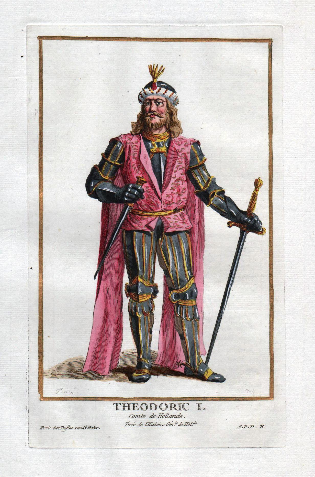"""Theodoric I comte de Hollande"""" - Dirk: Duflos le Jeune,"""