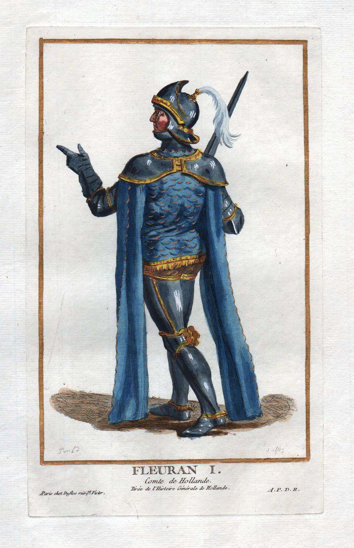 "Fleuran I comte de Hollande"" - Florens: Duflos le Jeune,"