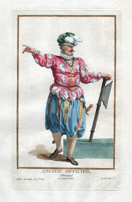 """Ancien Officier Allemand"""" - Deutschland Offizier Militaria: Duflos le Jeune,"""