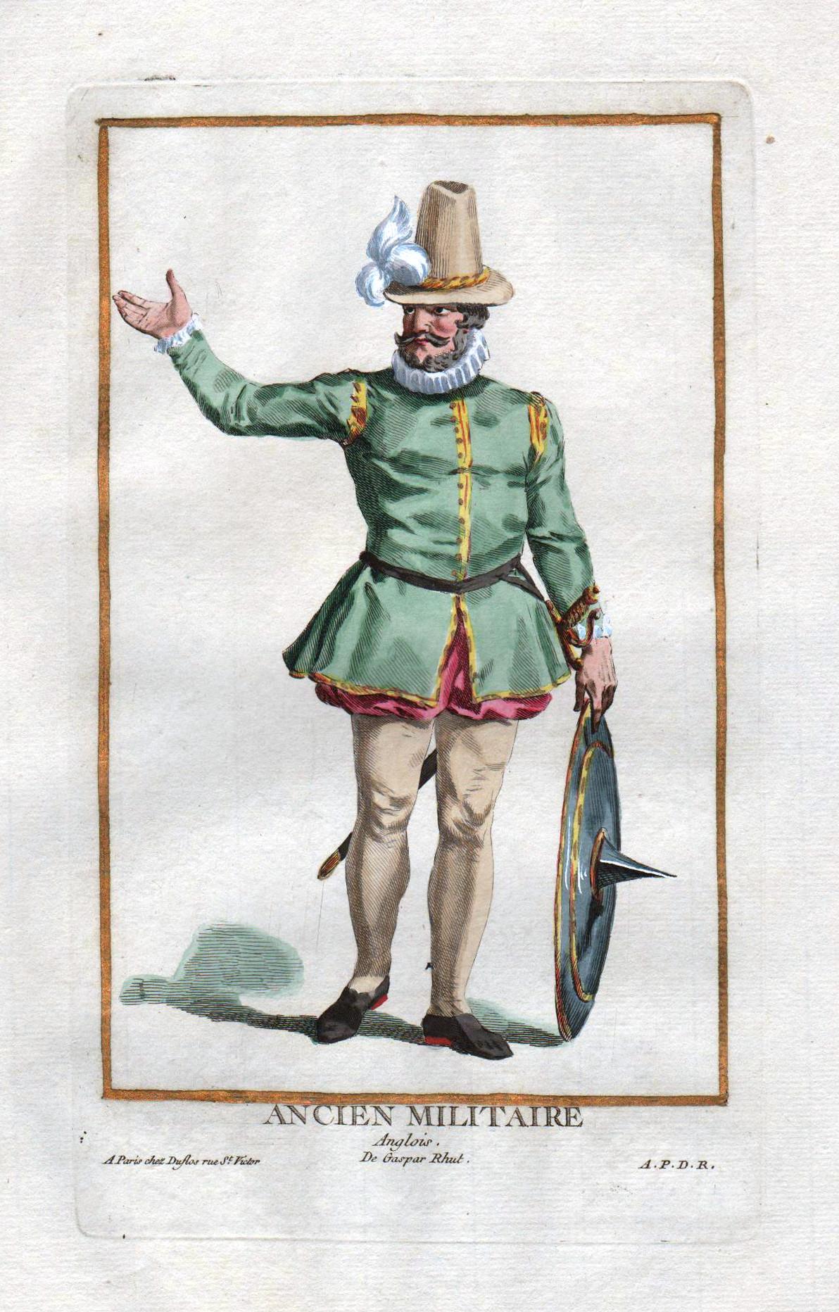 """Ancien Militaire Anglois"""" - Militaria England soldier: Duflos le Jeune,"""