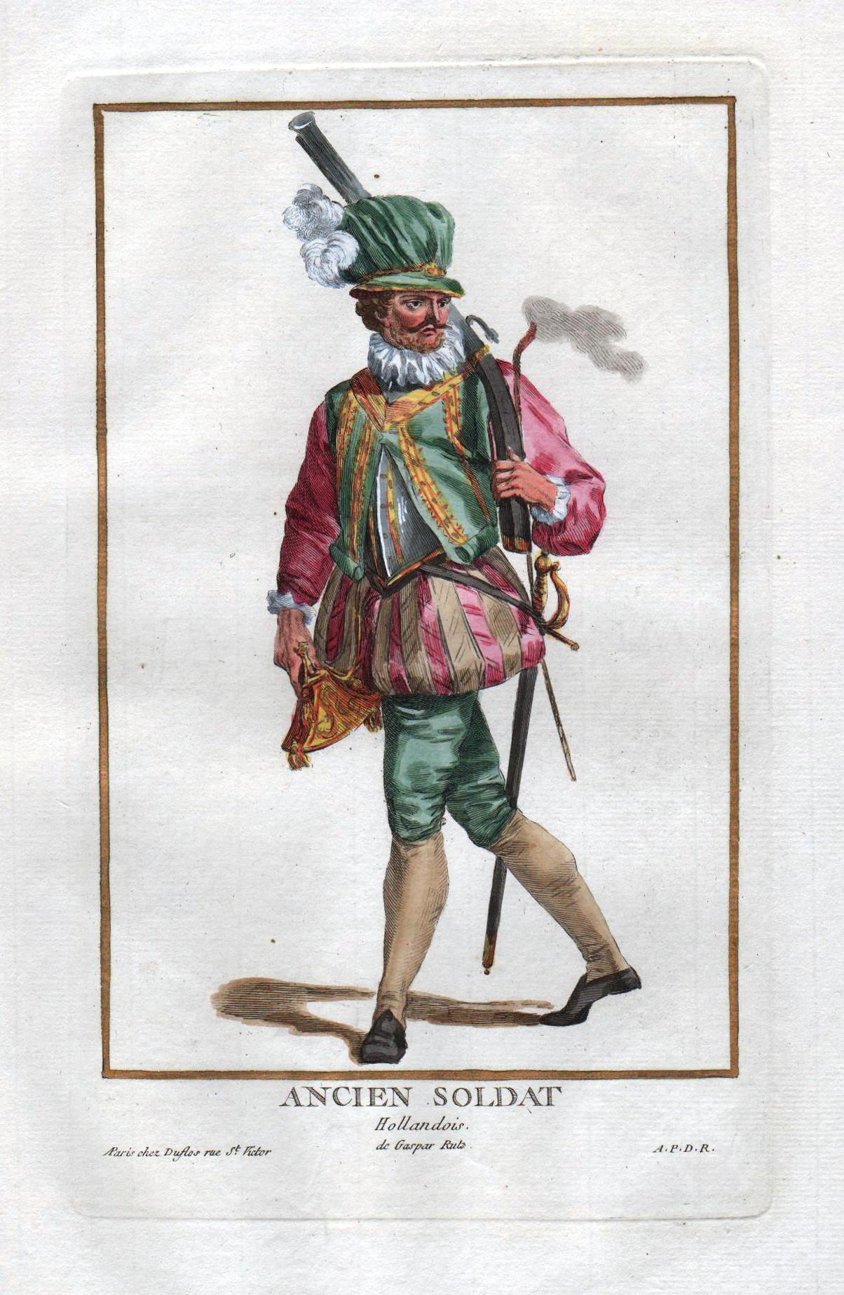 """Ancien Soldat Hollandois"""" - Holland Nederland soldier: Duflos le Jeune,"""