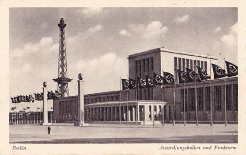 Ausstellungshallen und Funkturm. Ansichtskarten in Photodruck. Beschrieben: Berlin -