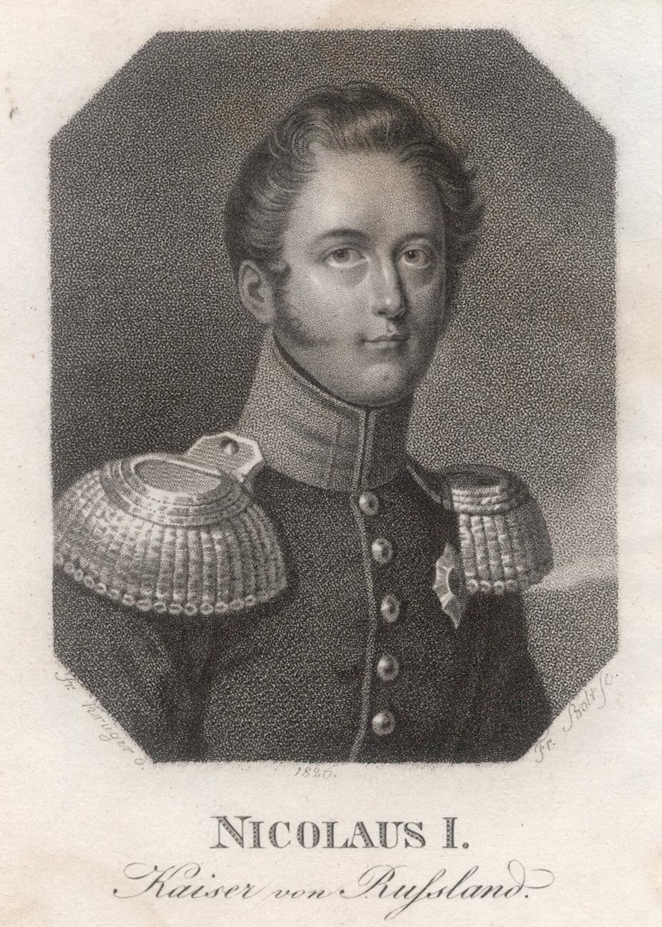 Zarskoje Selo bei Petersburg 06. 07. 1796: NIKOLAUS I. Pawlowitsch