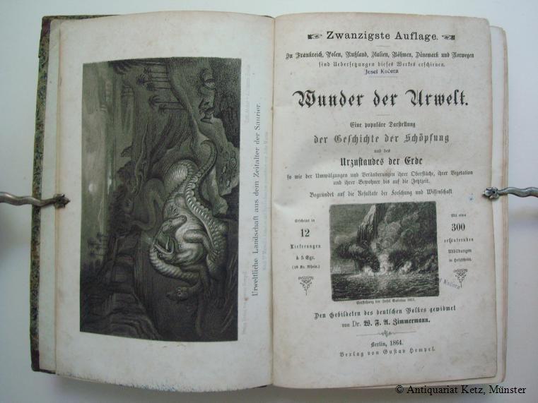 Die Wunder der Urwelt. Eine populäre Darstellung: Zimmermann, W. F.