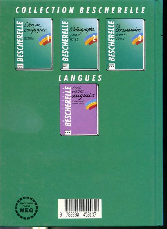 Bescherelle 1 L Art De Conjuguer Dictionnaire De 12 000 Verbes Neuf Couverture Rigide 1992 Librairie Le Nord