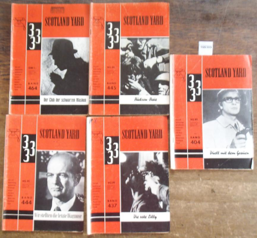 Konvolut Scotland Yard mit 5 Heften. Enthalten: Scotland Yard. -