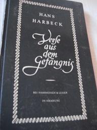 Verse aus dem Gefängnis - Harbeck, Hans