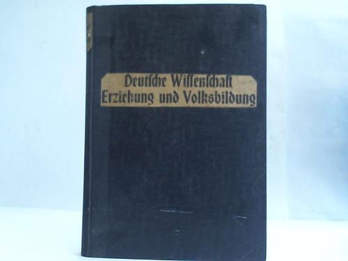 Deutsche Wissenschaft, Erziehung und Volksbildung: Amtsblatt der NSDAP