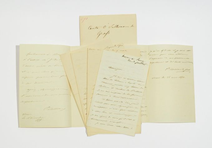 6 eigenh. Briefe m. Unterschrift.: O Sullivan de Grass,