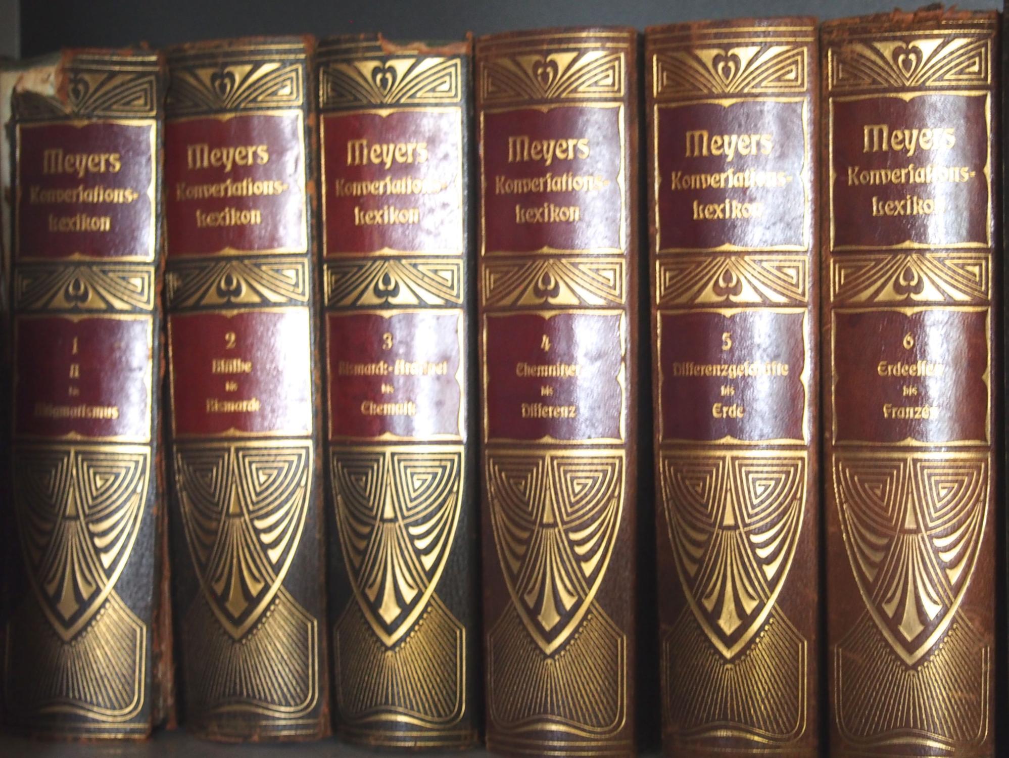Meyers Großes Konversationslexikon. Sechste Auflage. Bände 1