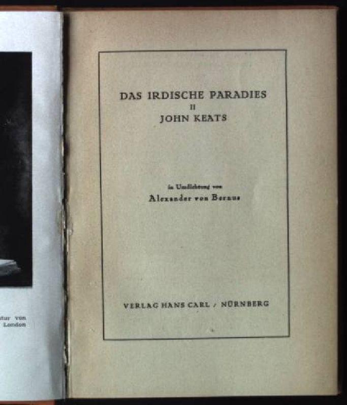 Das Irdische Paradies II, John Keats: Bernus, Alexander von:
