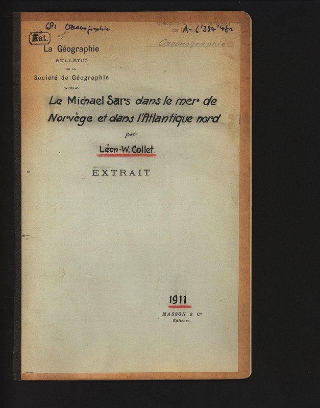 Le Michael Sars dans le mer de: Collet, Leon-W.,