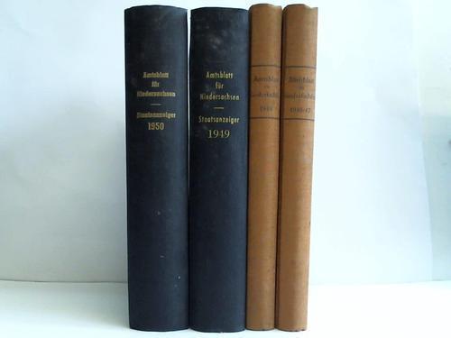 Jahrgang 1946/47, 1948, 1949 u. 1950. 4: Amtsblatt für Niedersachsen
